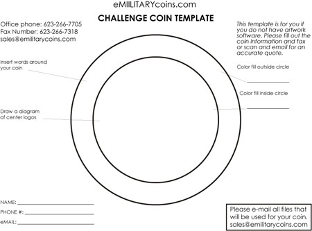 military coin design template challenge coin artwork template at